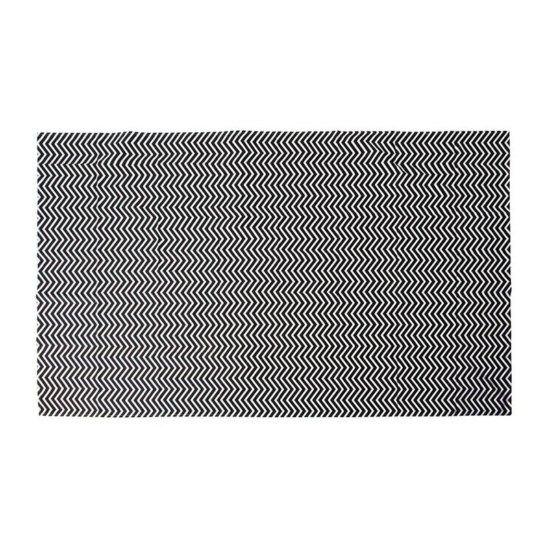 Tafelkleed grafisch - zwart/wit - 240x140 cm