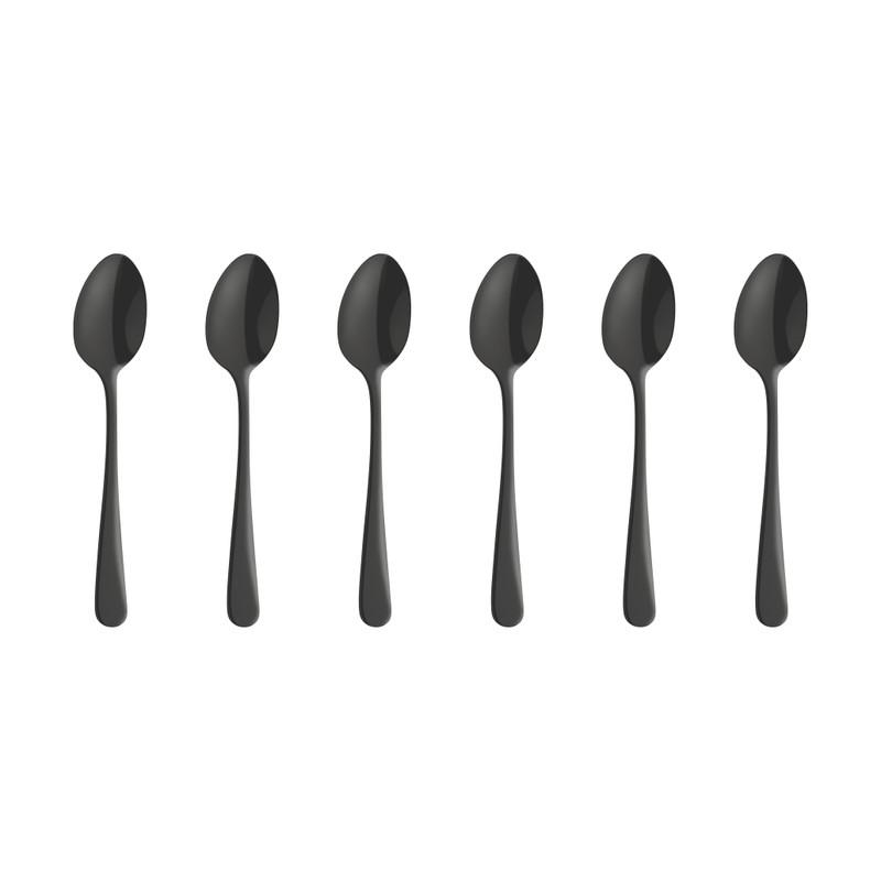Amefa theelepels - Austin - vintage zwart - 6-delig