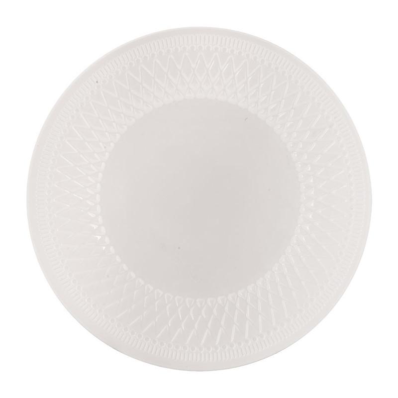 Dinerbord Alizee - wit - 28 cm