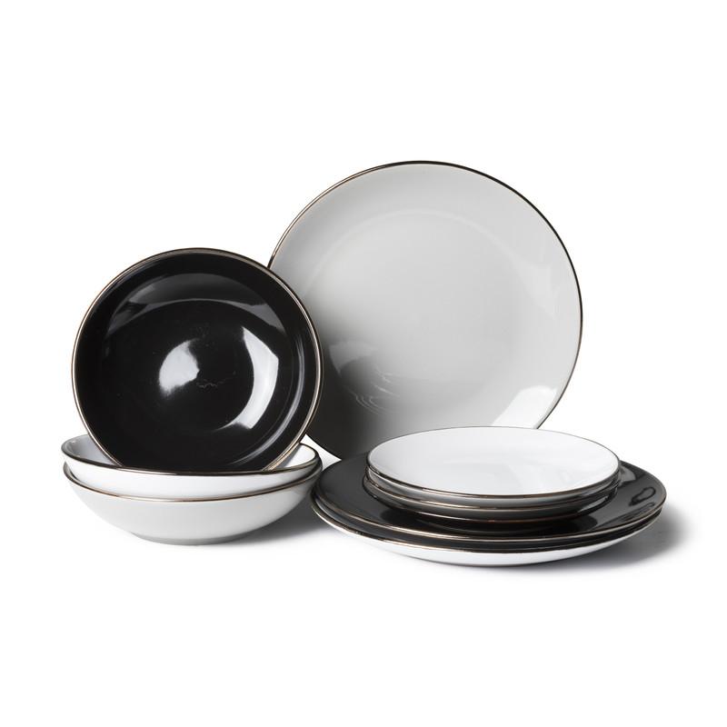 Dinerbord goldline - zwart - ø27 cm