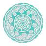 Diep bord Puablo - 22 cm - blauw