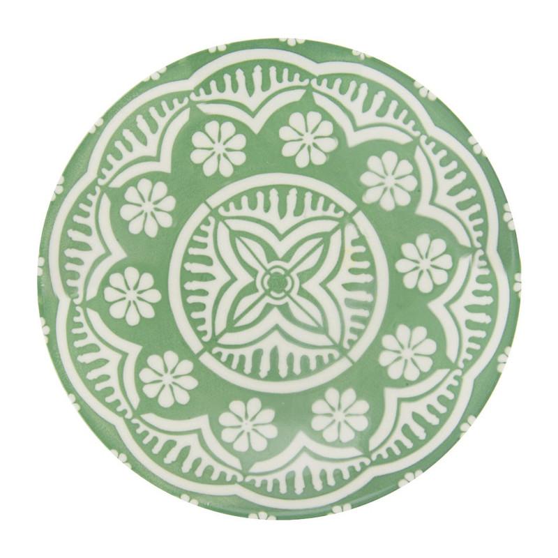 Diep bord Puablo - 22 cm - groen