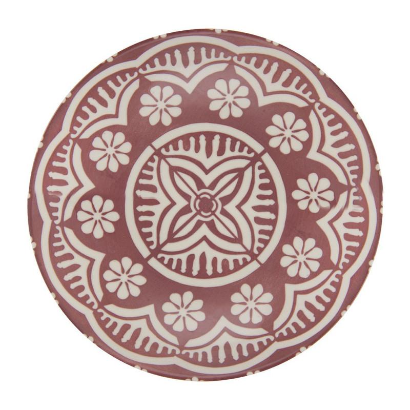 Diep bord Puablo - 22 cm - rood
