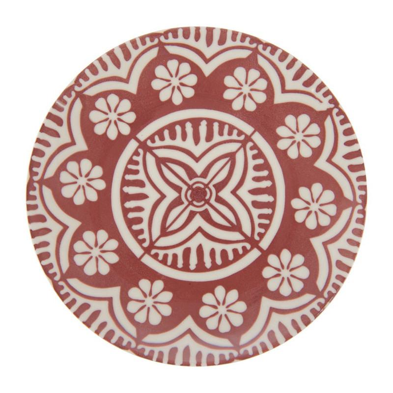 Ontbijtbord Puablo - 20 cm - rood