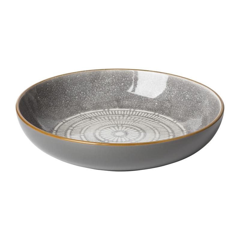 Pastabord Yara - grijs - ⌀21.7 cm