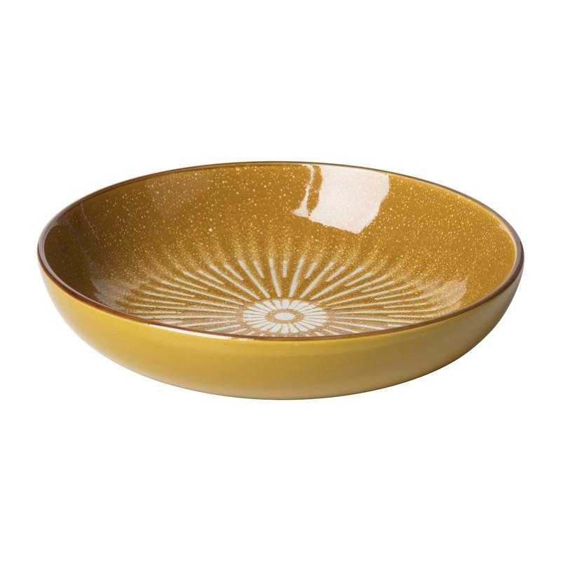 Pastabord Yara - geel - ⌀21.7 cm