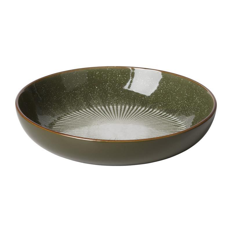 Pastabord Yara - groen - ⌀21.7 cm