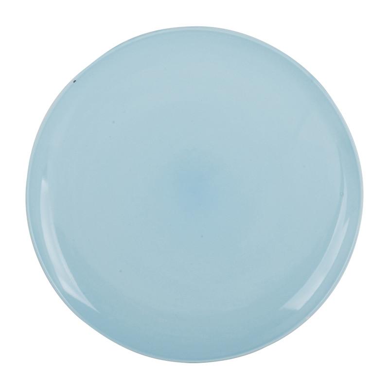 Dinerbord pastel - blauw - 26 cm