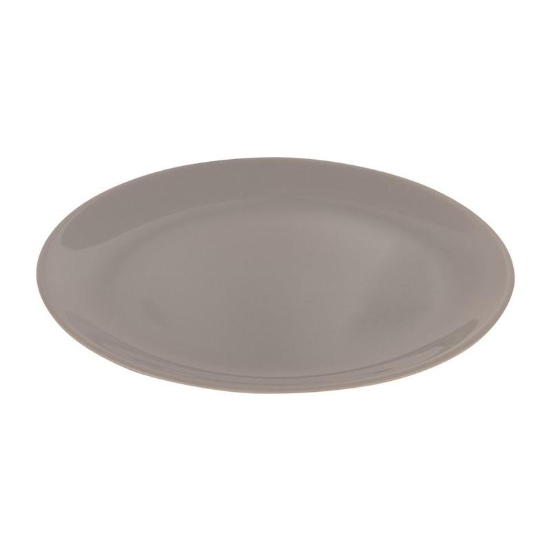 Ontbijtbord basic - 26 cm - grijs