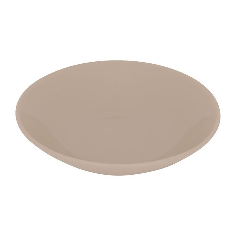 Diep bord basic - 21 cm - taupe