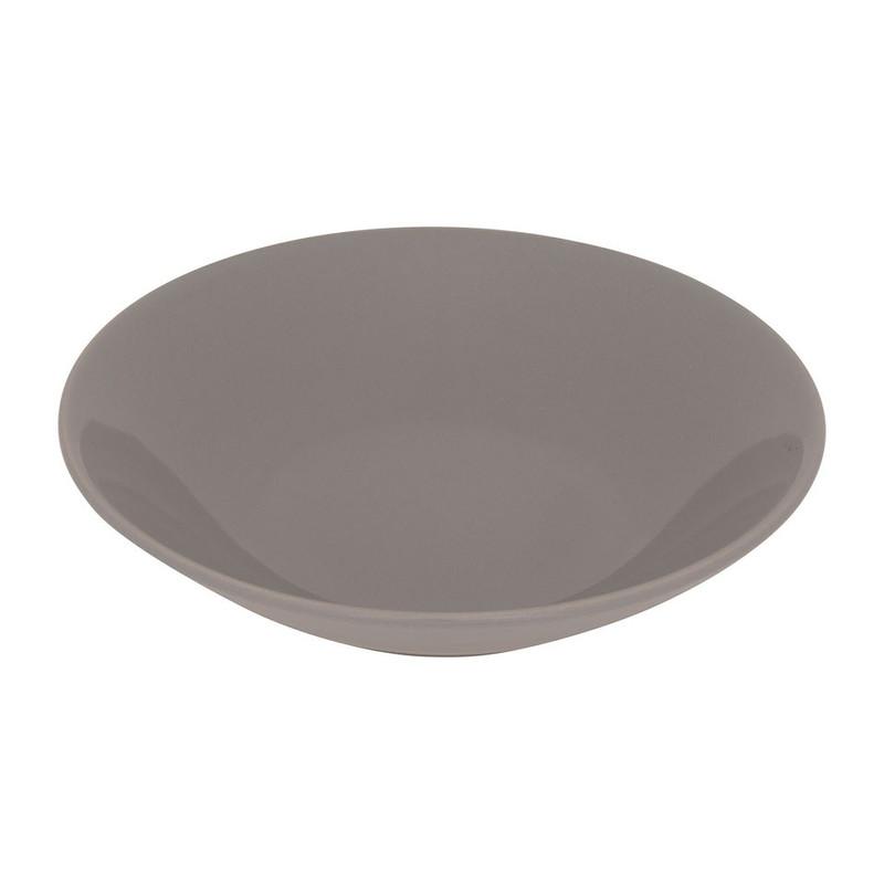 Diep bord basic - 21 cm - grijs