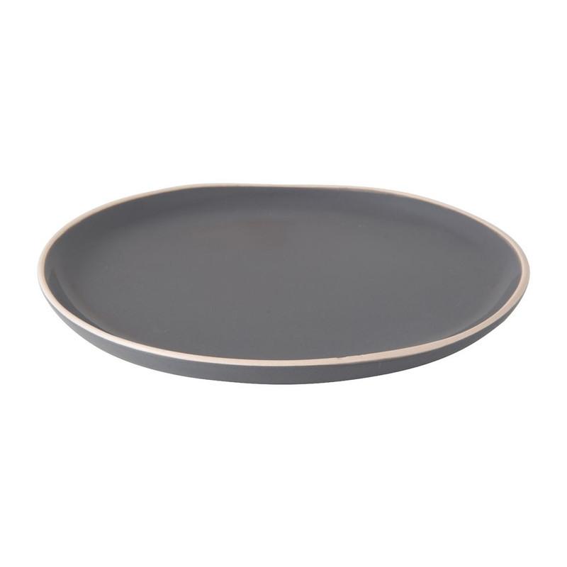Ontbijtbord Havana - 20 cm - grijs