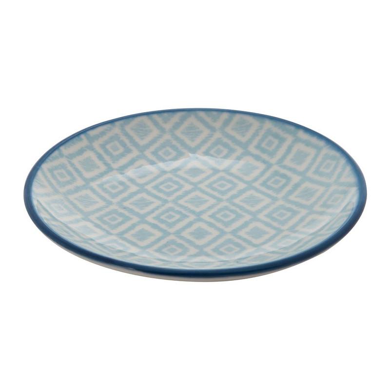 Petit four bordje Nova - blauw - 10 cm