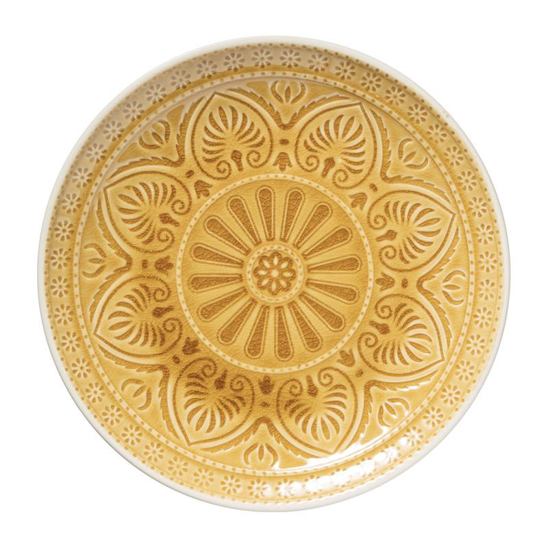 Dinerbord Yasmine - okergeel - 25.5 cm