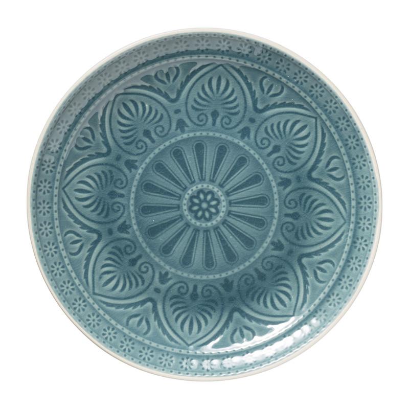 Dinerbord Yasmine - blauw - 25.5 cm
