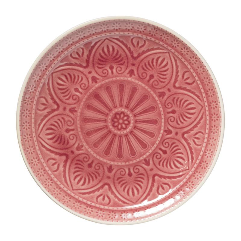 Dinerbord Yasmine - roze - 25.5 cm