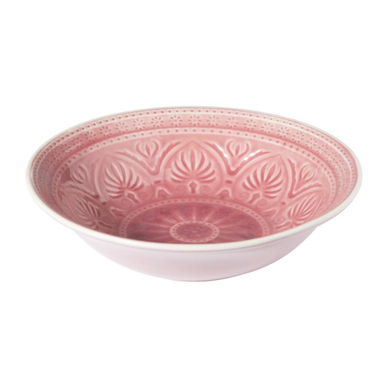 Schaal Yasmine - roze - 26.5 cm