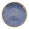 Petit four bordje Yasmine - 10 cm - blauw
