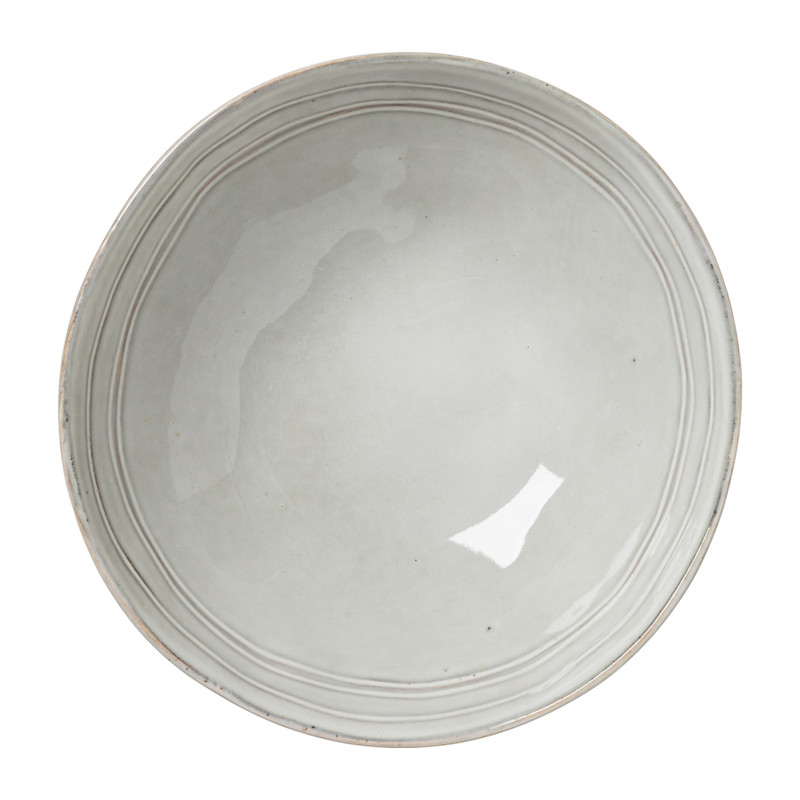 Diep bord Toscane - grijs - 19 cm