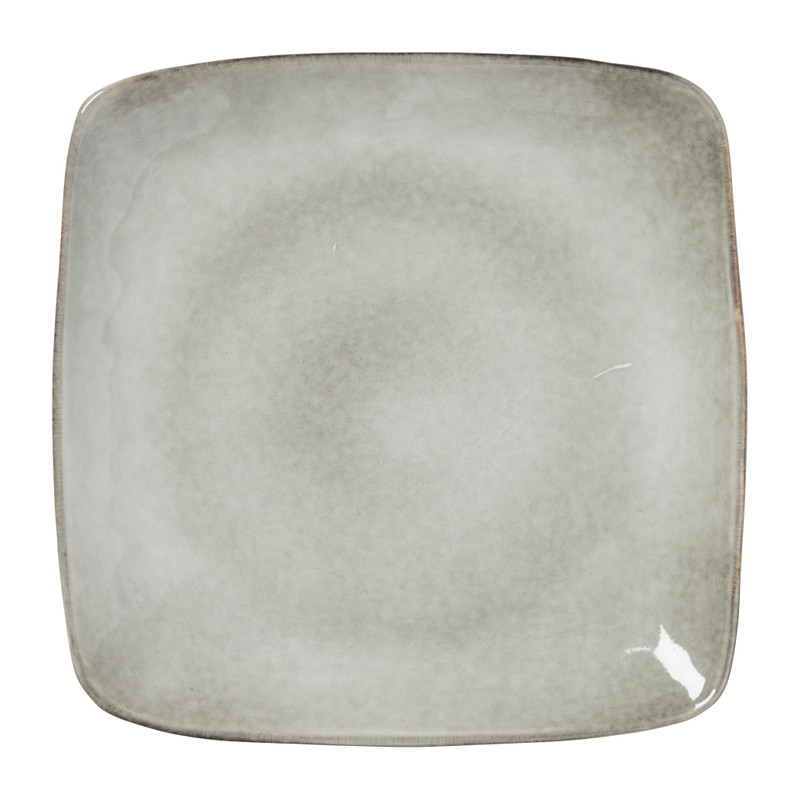 Vierkant bord Toscane grijs 25 cm
