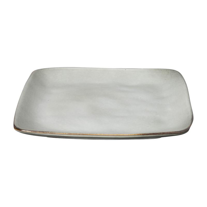 Vierkant bord Toscane grijs 20 cm