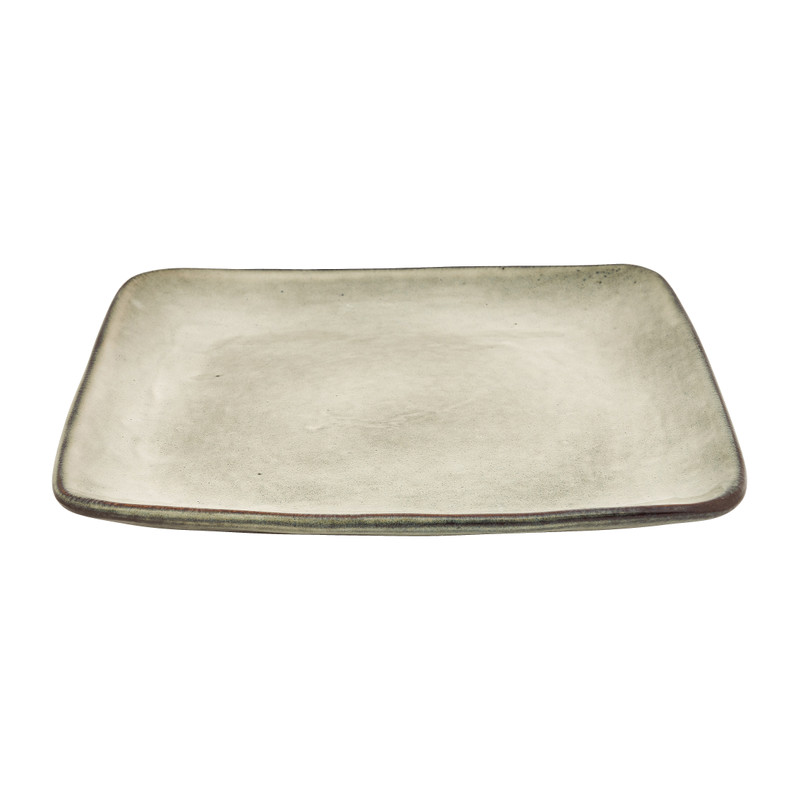 Vierkant bord Toscane - grijs - 20 cm