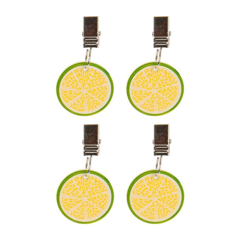 Tafelkleedgewichten citroen - metaal - 4 stuks