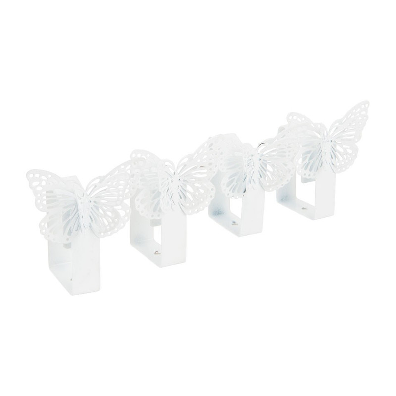 Tafelkleedklemmen vlinder - metaal - 4 stuks