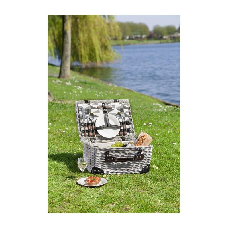 Picknickmand luxe - 40x30x20 cm