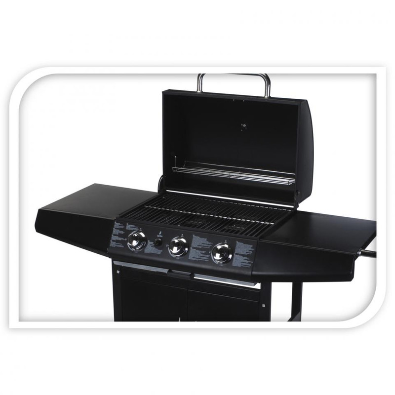 Vaggan gas barbecue grill - 3-pits - 133x55x104 cm
