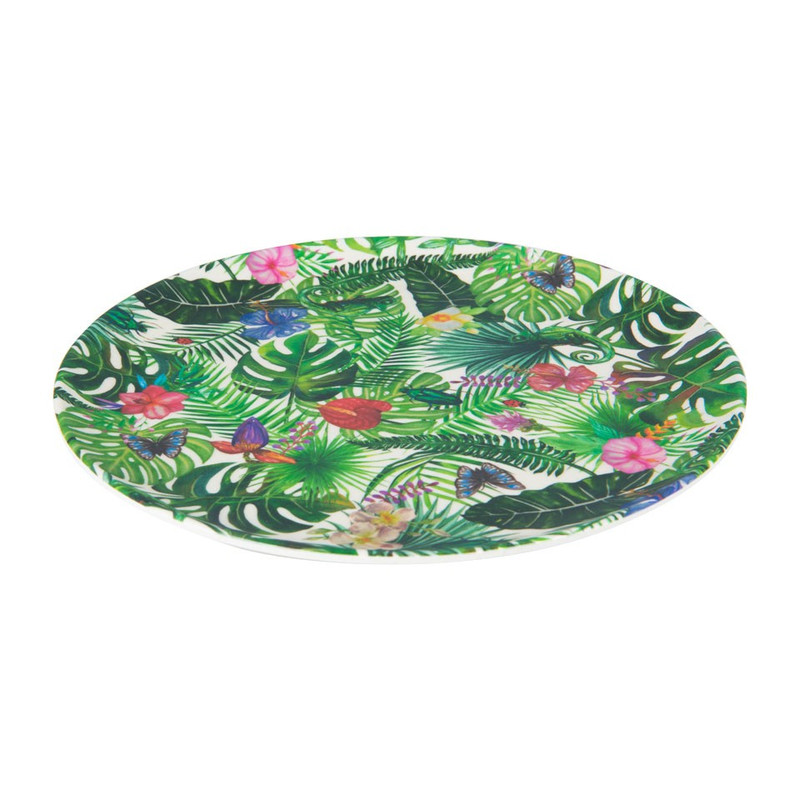 Bord Tropical - bamboe - 23 cm