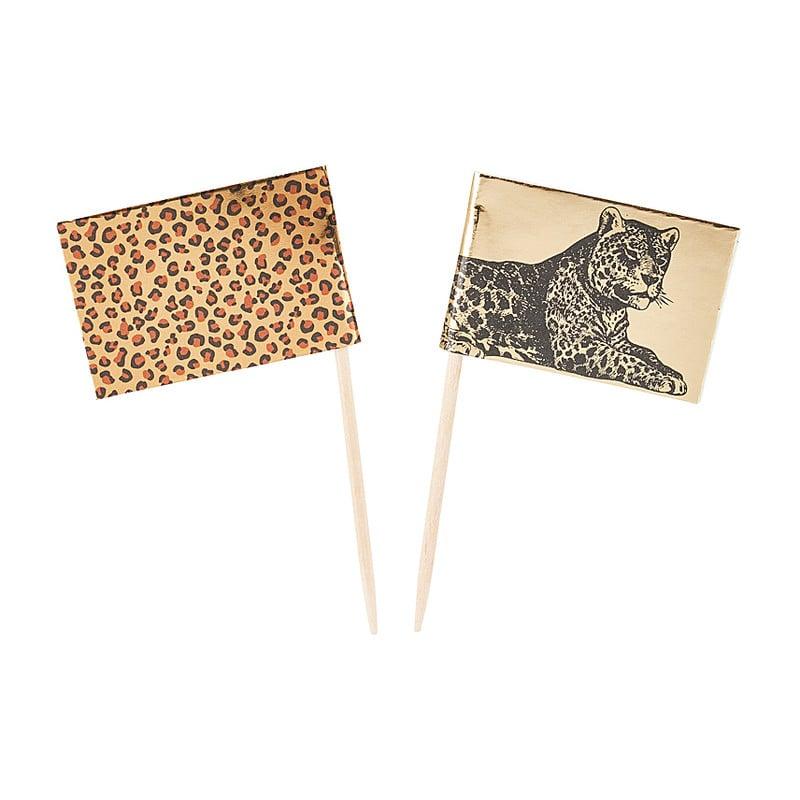 Prikkers leopard set van 16