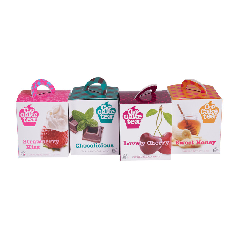Cupcake tea - set van 4