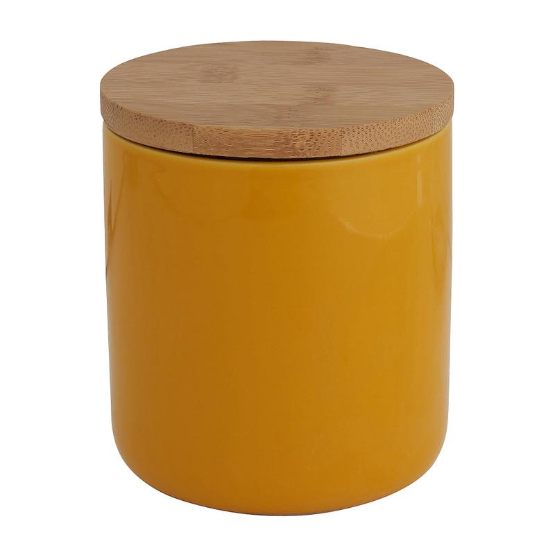 Voorraadpot bamboe geel 600 ml