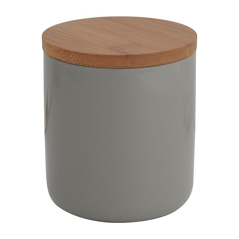 Voorraadpot bamboe grijs 600 ml