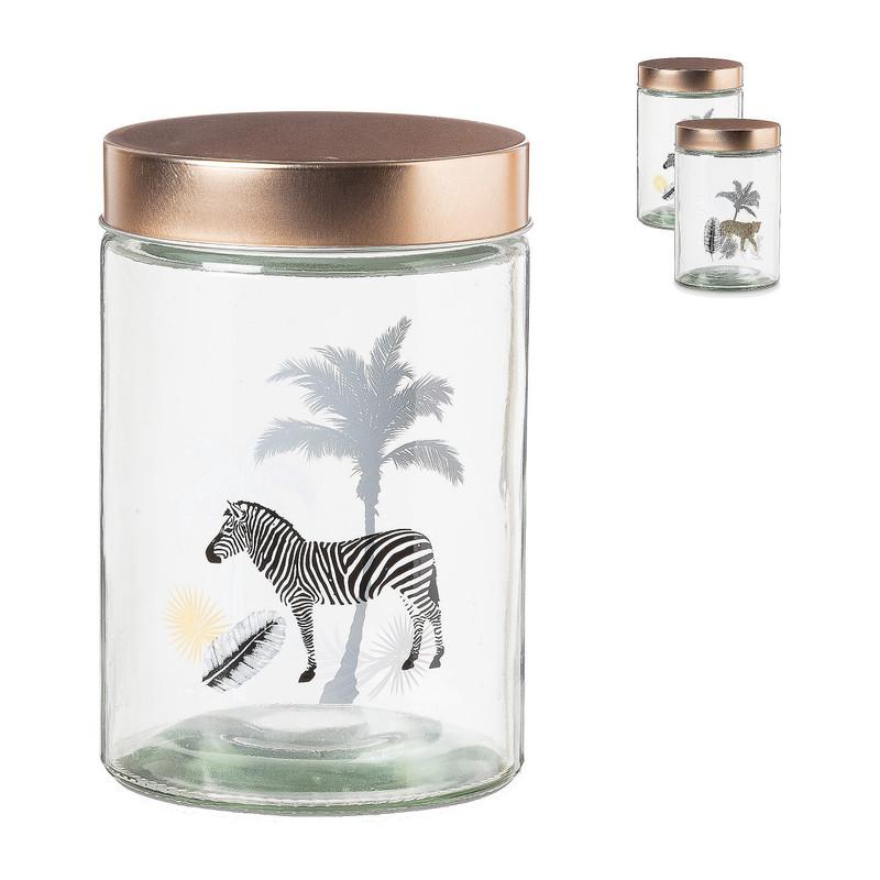 Opbergpot zebra panter diverse varianten 1,2 L