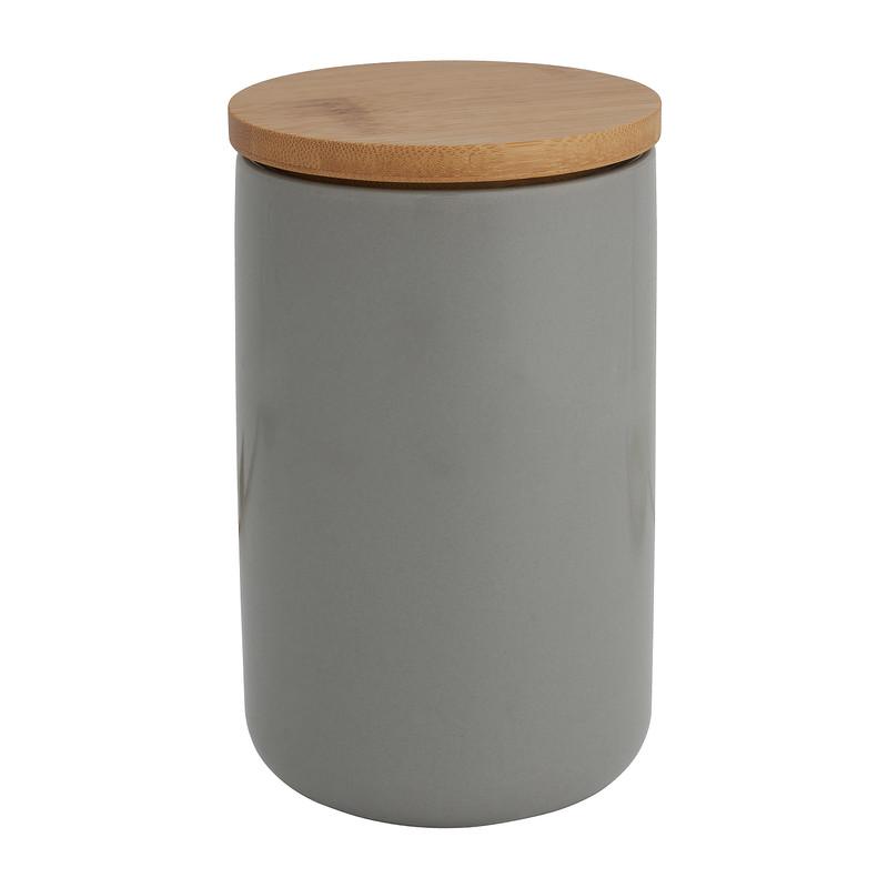 Voorraadpot bamboe - grijs - 900 ml