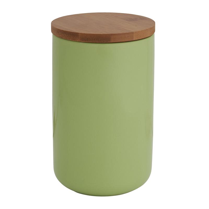 Voorraadpotpot bamboe groen 900 ml