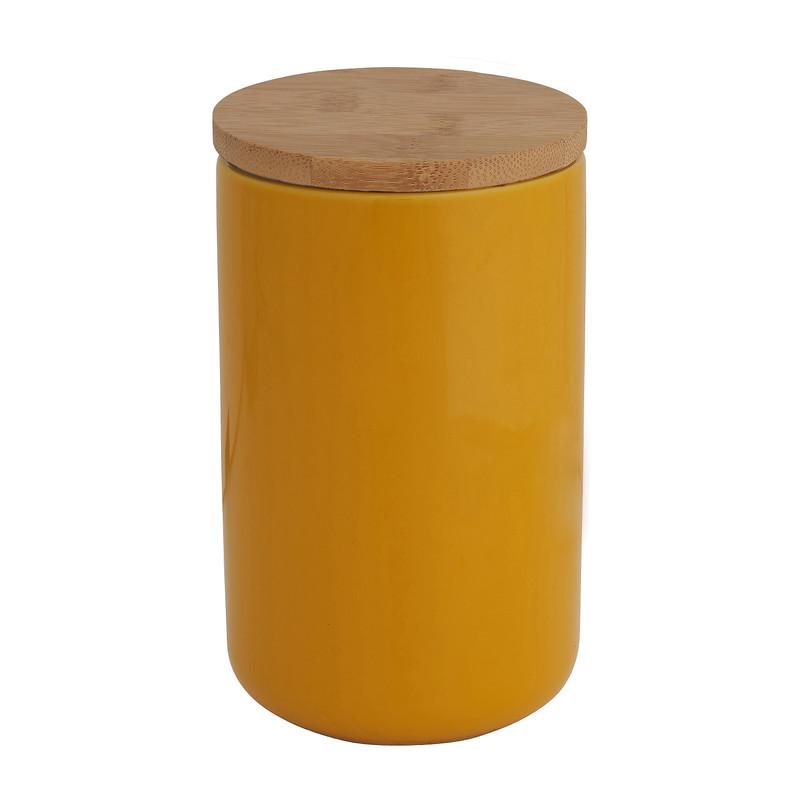 Voorraadpot bamboe geel 900 ml