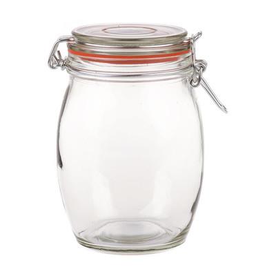 Voorraadpot klemdeksel rond - 1 liter