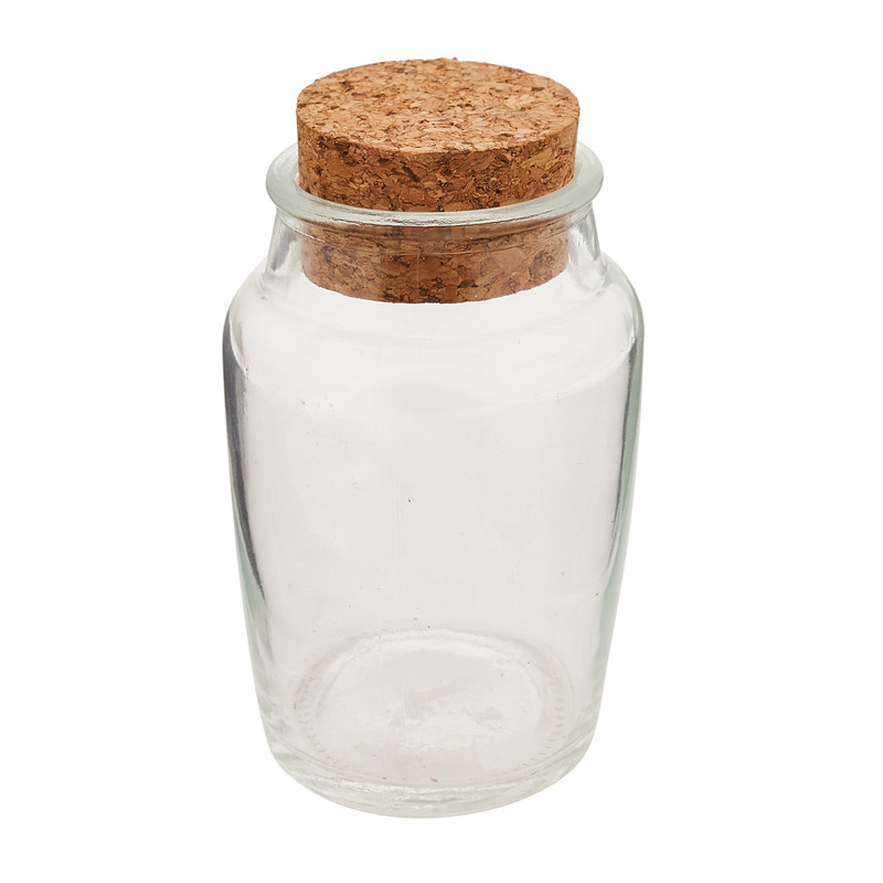 Voorraadpot met kurk deksel 140 ml