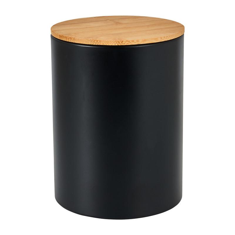Voorraadblik met bamboe deksel - Ø11x14 cm
