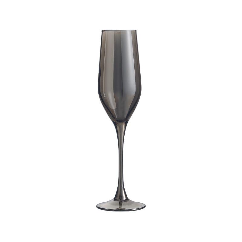 Champagneglazen grijs - 16 cl - set van 4