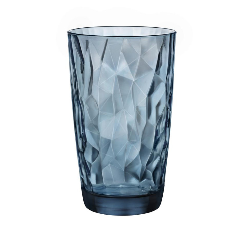 Longdrinkglas diamond - 47 cl - blauw