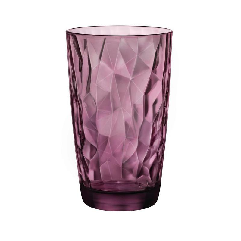 Longdrinkglas diamond - 47 cl -  paars