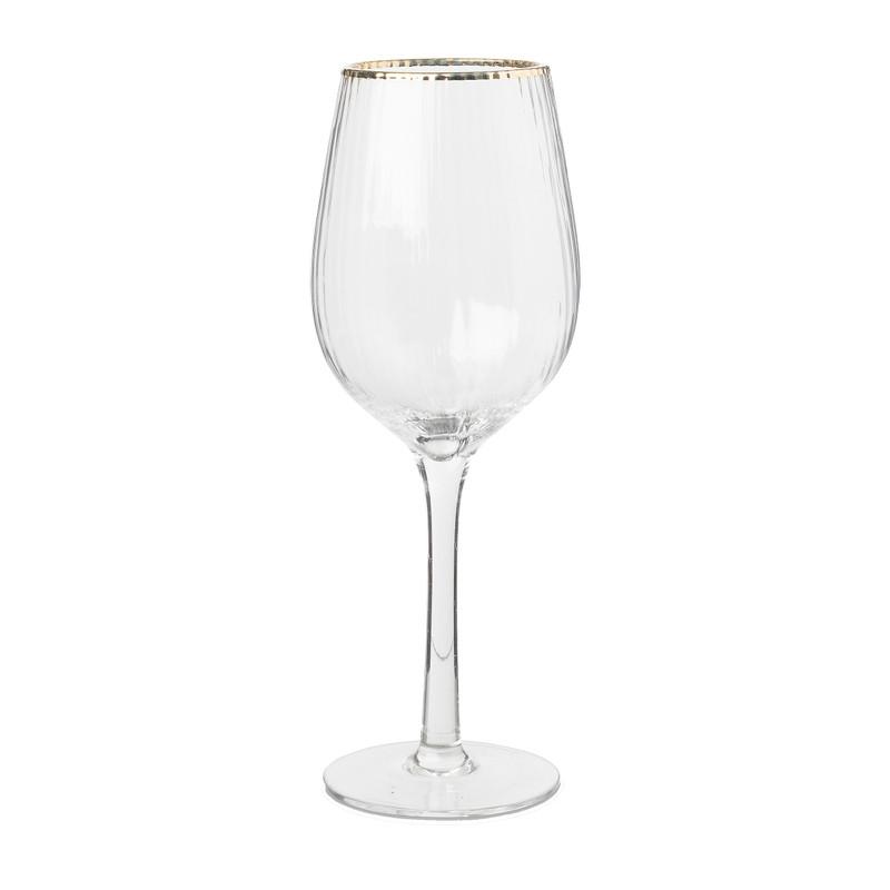 Wijnglas met gouden rand 45 cl