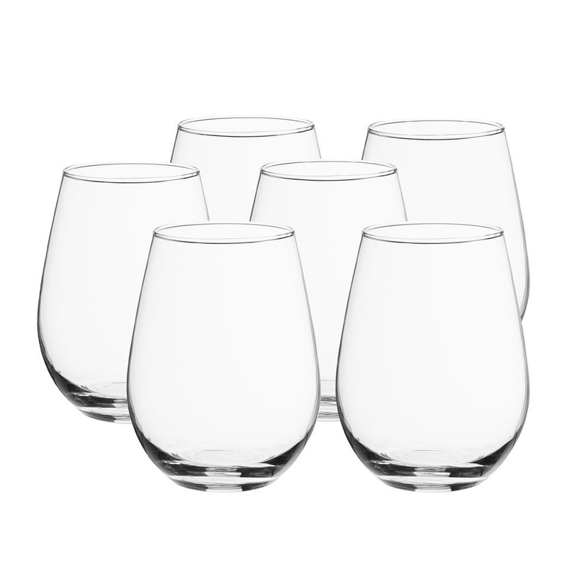 Wijn- en waterglas zonder voet 34 cl - set van 6