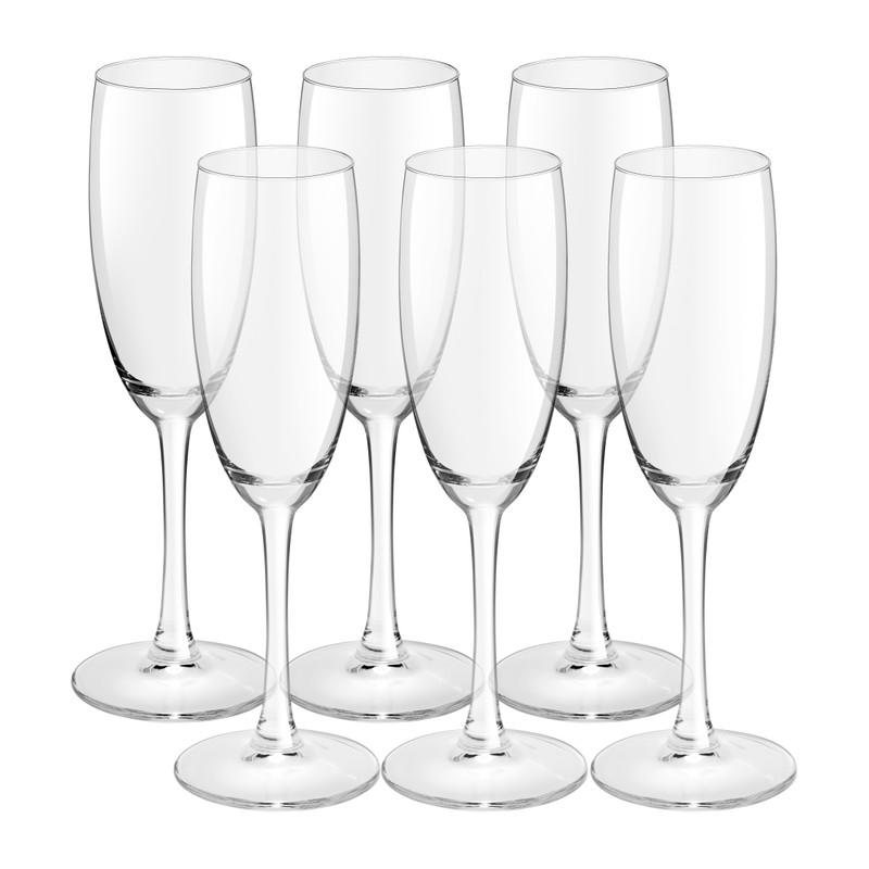 Champagneglas - set van 6 - 180 ml