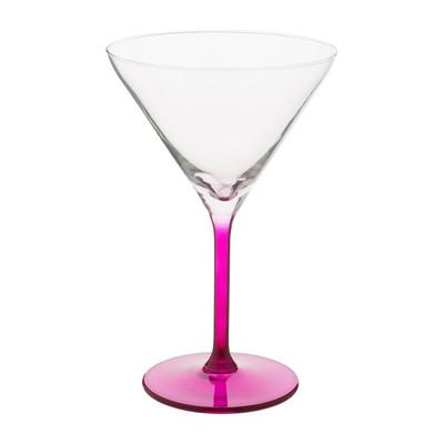 Cocktailglas colourful - 26 cl - roze - set van 4