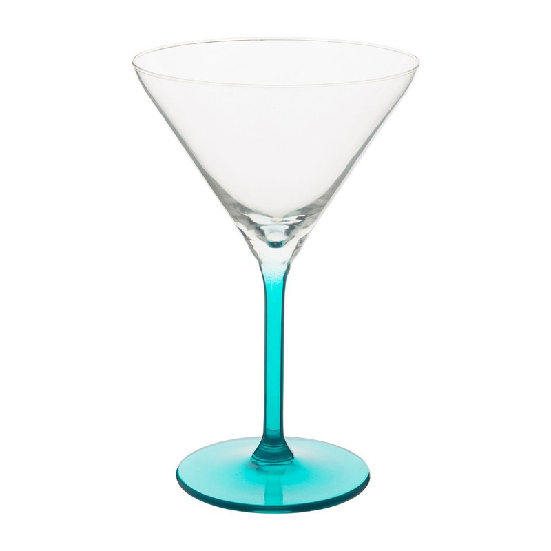 Cocktailglas colourful - 26 cl - turquoise - set van 4